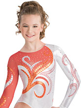 Swirl Rush Competition Leotard from GK Gymnastics
