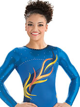 Ascending Vine Long Sleeve Leo from GK Gymnastics
