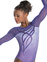 Ribbons & Curls Sublimated Leotard from GK Gymnastics