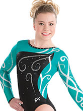 Wrapping Petal Competitive Leotard from GK Gymnastics