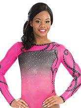 Wrapping Petal Sublimated Leotard from GK Gymnastics