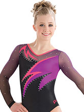Abstract Wave Sublimated Leotard  from GK Gymnastics