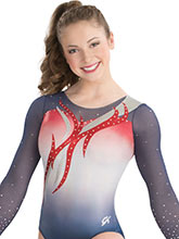 Soaring Flame Sublimated Leotard  from GK Gymnastics