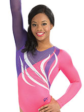 Flourishing Ribbon Comp Leotard from GK Gymnastics