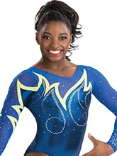 Whispering Flame Competition Leotard from GK Gymnastics