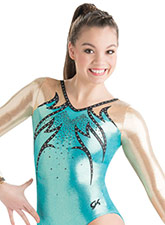Flaring Bodice Competition Leotard from GK Gymnastics