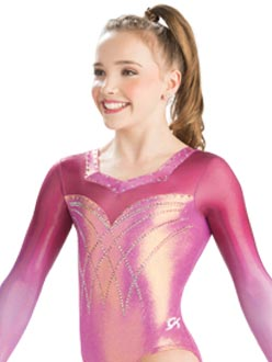 48d02a276 Romantic Laced Long Sleeve Leotard from GK Elite