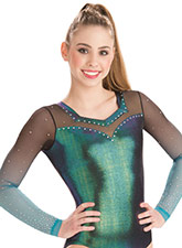 Romantic Laced Long Sleeve Leotard from GK Gymnastics