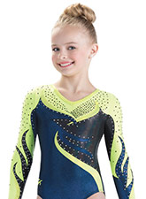 Twisted Flame Long Sleeve Leotard from GK Gymnastics