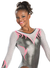 Fiery Glory Competition Leotard from GK Gymnastics