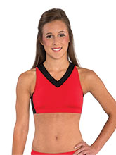 V Neck Crop Top with Triple Strap Back from GK Cheer