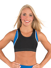 Scoop Neck Color Block Crop Top from GK Cheer