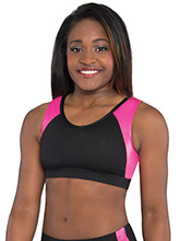 Open Back V Neck Crop Top from GK Cheer