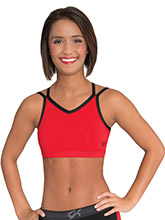 DryTech Open Back V Neck Cheer Crop Top from GK Cheer