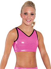 Mystique V Neck Strappy Back Crop Top from GK Cheer
