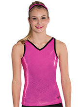 Mystique V Neck Strappy Back Long Tank from GK Cheer