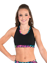 Prismatic Halter Cheer Crop Top from GK Cheer
