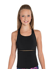 Black Mesh Accent Cheer Top from GK Cheer