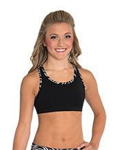 Iced Zebra Racerback Crop Top from GK Cheer