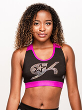 GK All Star Crystal Trendy Crop Top from GK Cheer