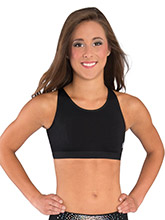 Modern Triangle Back Cheer Crop Top from GK Cheer
