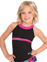 Cut Out Y Back Cheer Long Top from GK Cheer