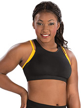Double Layer Crisscross Crop Top From GK Cheer