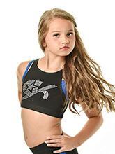 GK All Star Double Layer Crisscross Crop Top from GK Cheer