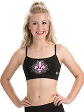 Black Cheer Crop Top with Mesh Inset Back From GK Cheer