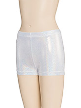 White Sparkle Cheer Shorts from GK Cheer