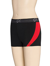 Red Hot DryTech Side Panel Shorts from GK Cheer