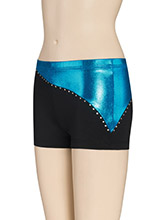 Electric Two Tone Cheer Shorts from GK Cheer