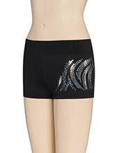 Zebra Sequinz Cheer Shorts from GK Cheer