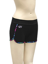Prismatic Trim Workout Shorts from GK Cheer