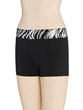 Iced Zebra Waistband Shorts from GK Cheer