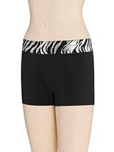 Iced Zebra Waistband Shorts from GK Cheer