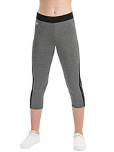 Performance Grey Heather Speed Stripe Capris from GK Cheer