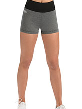 Performance Grey Heather High-Waisted Cheer Shorts from GK Cheer