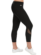 Black 7/8 Cheer Tight with Mesh Accenti From GK Cheer