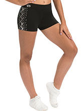 Black Short with Silver Spanglez Side Pattern from GK Cheer