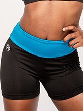 GK All Star Crystal Black High-Waisted Shorts from GK Cheer