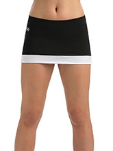Black Cheer Skirt with White Color Block Hem From GK Cheer