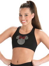 Sparkle Minnie Cheer Crop Top from GK Cheer