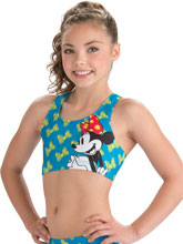 Flutter Bow Minnie Cheer Crop Top from GK Cheer