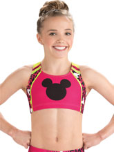 Mickey Print Cheer Crop Top from GK Cheer