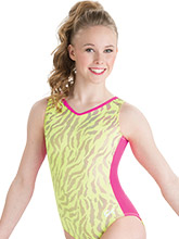Yellow Tigress Gymnastics Leotard from GK Gymnastics