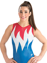 Blazing Freedom Tank Leotard from GK Elite
