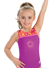 GKids Magenta Scribbles Leotard from GK Gymnastics