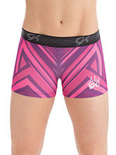 Aly Raisman Aztec Workout Shorts from GK Gymnastics