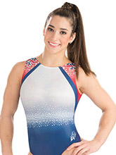 Aly Raisman Pretty Patriot Leotard from GK Gymnastics